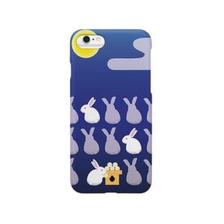 月見ウサギ Smartphone cases