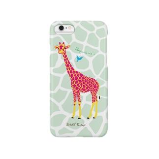 キリンとなかよし Smartphone cases