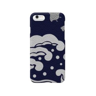 荒波紋 千鳥 Smartphone cases