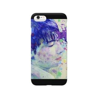 紫苑(黒) Smartphone cases