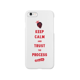 TRUST THE PROCESS -red- Smartphone cases