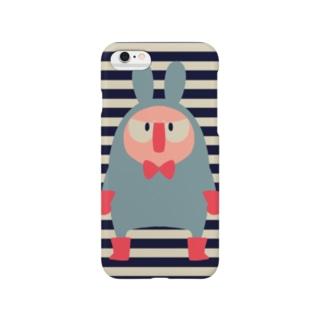 ほっかむり先輩(ボーダー) Smartphone cases