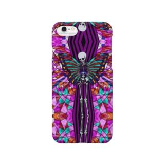肋骨と蝶(小柄) Smartphone cases