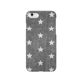 キルティングデニム  (スター) Smartphone cases