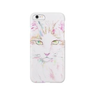 メインクーン_カラフル Smartphone cases