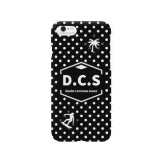 D..C.Sドットブラックサーファー Smartphone cases