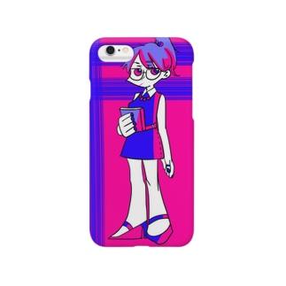 青とピンク Smartphone cases
