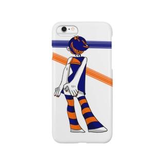 紺とオレンジ Smartphone cases