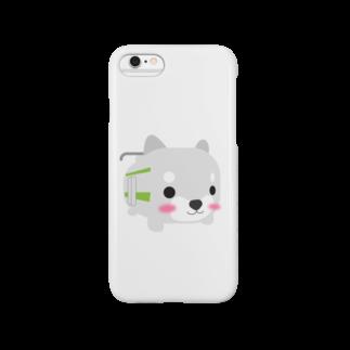 柴とれe-shopの柴とれ(黄緑) Smartphone cases