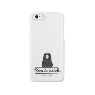 サンガツウマレのクマ Smartphone cases
