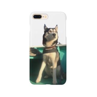 船乗りハスキー Smartphone cases