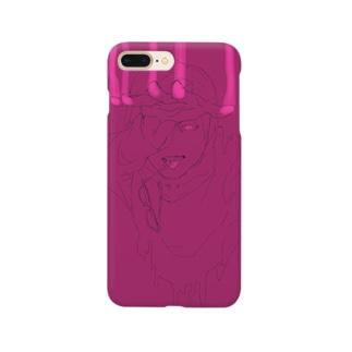 べったりインク紫ピンク Smartphone cases