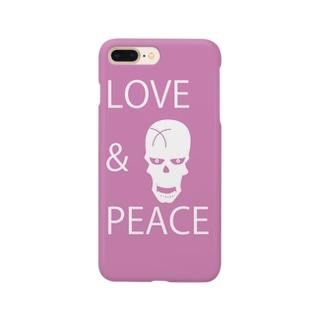 【LOVE&PEACE】のドクロさん Smartphone cases