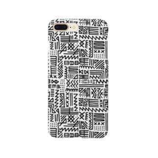 手書きトライバル柄 Smartphone cases