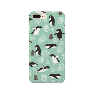 ペンギン(緑) Smartphone cases