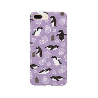 ペンギン(紫) Smartphone cases