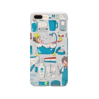 💙HAPPY BATH TIME💙 スマートフォンケース