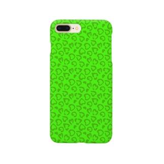緑のヒョウ柄 スマートフォンケース