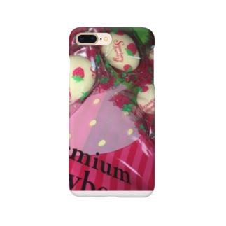 ホワイトストロベリー Smartphone cases