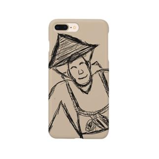 JUNSEN(純仙)背負い籠を担ぐ農夫 Smartphone cases