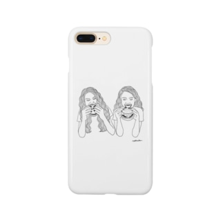 nokkachanのハンバーガー Smartphone cases