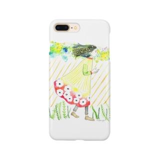 虹色の雨雲の少女 Smartphone cases