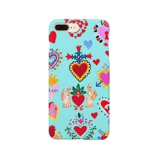 メキシカンハートblue Smartphone cases
