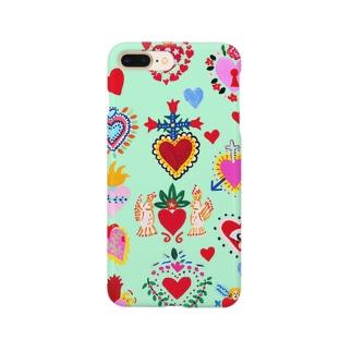メキシカンハートgreen Smartphone cases