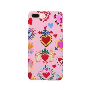 メキシカンハートPINK Smartphone cases