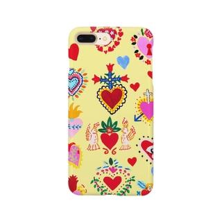 メキシカンハートYellow Smartphone cases