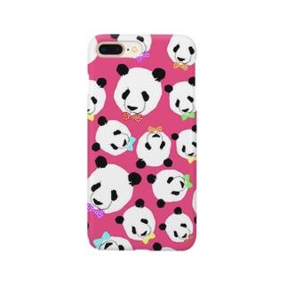 密集パンダ(ピンク) Smartphone cases