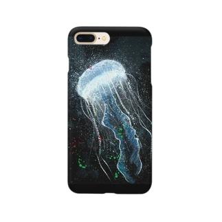 クラゲの発光 Smartphone cases