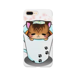 マグ湯浴み猫 Smartphone cases