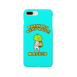 ミニマム梨男スマホケース【BLUE】 Smartphone cases