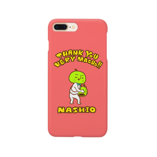 nashio20thのミニマム梨男スマホケース【PINK】 Smartphone cases
