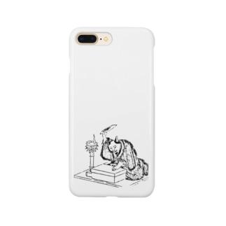 講談する猫 Smartphone cases