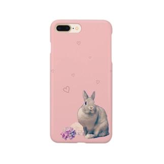 うさぎのミニー ピンク Smartphone cases