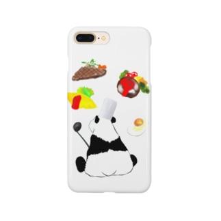 料理人パンダ Smartphone cases