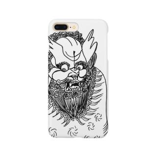 JUNSEN(純仙)唐獅子 平成の夜風を浴びて 単色 Smartphone cases