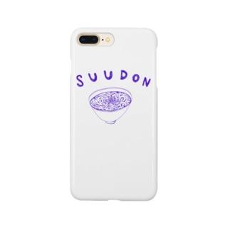 グルメデザイン「素うどん」 Smartphone cases