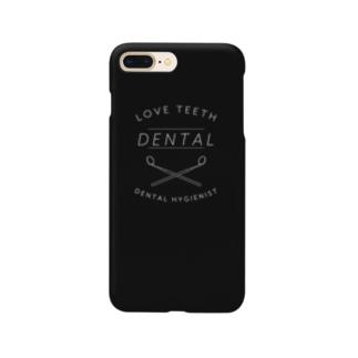 歯科衛生士のケース・黒 Smartphone cases