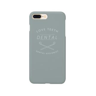 歯科衛生士のケース・灰 Smartphone cases