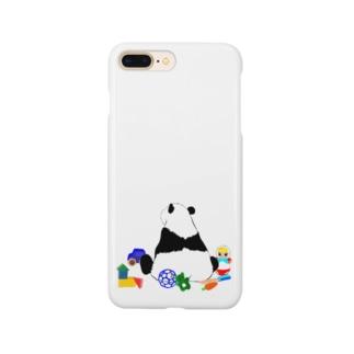 お片づけできないパンダ🐼ブルー💙 Smartphone cases