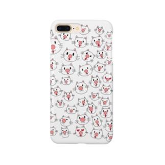 ハナデカネコマル Smartphone cases