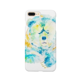 悩ましいクマ Smartphone cases