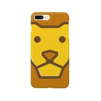 Savanna lion face スマートフォンケース
