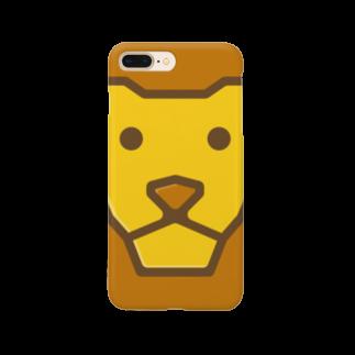 willnetのSavanna lion face Smartphone cases