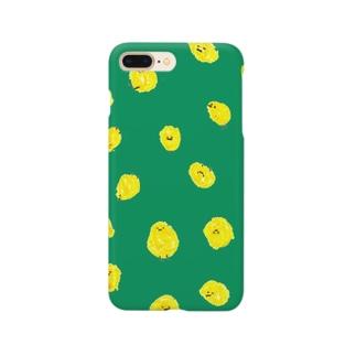 ひよこまみれ_緑 Smartphone cases