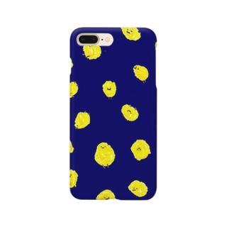 ひよこまみれ_青 Smartphone cases