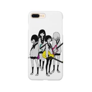 ギター&ベース女子高生 Smartphone cases